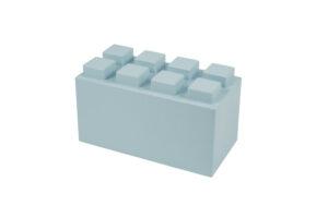 großer Block in der Farbe Hellblau