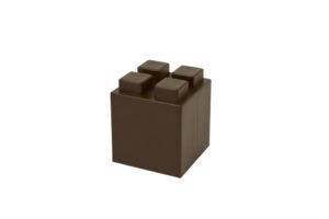 halber Block in der Farbe Braun