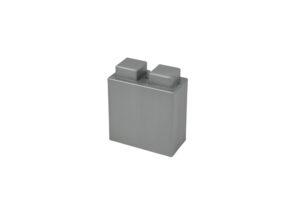 viertel Block in der Farbe Silber