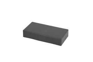 kleine dunkelgraue Abdeckplatte für 1x2 Noppen-Block