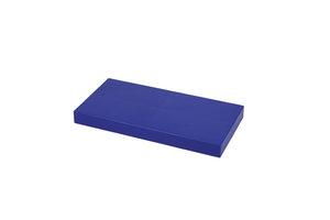 große dunkelblaue Abdeckplatte für 4x2 Noppen-Block