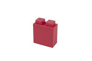 viertel roter Block mit 1x2 Noppen