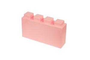 halber länglicher rosa Block mit 4x1 Noppen