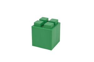 halber grüner Block mit 2x2 Noppen