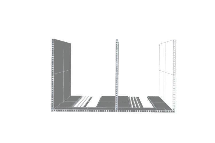 Doppelbüro - Ansicht von oben