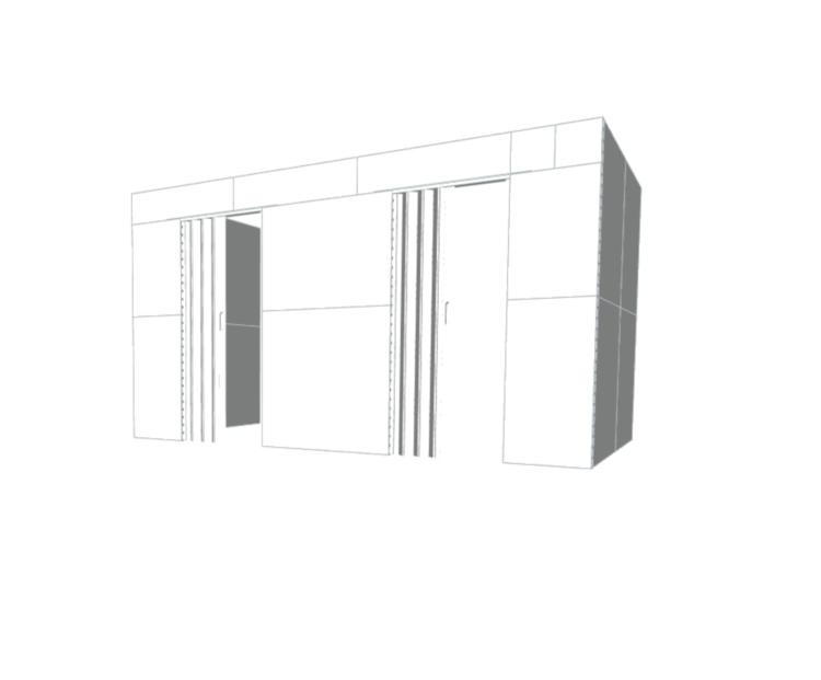 Doppelbüro - Seitenansicht rechts