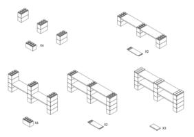 4 Böden Doppelregal - Schritt-für-Schritt Instruktionen
