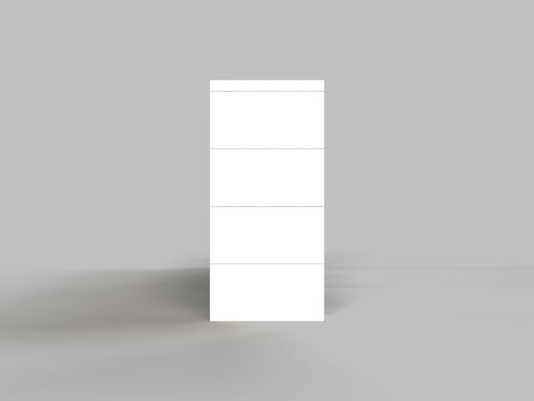 4 Böden Doppelregal - Seitenansicht