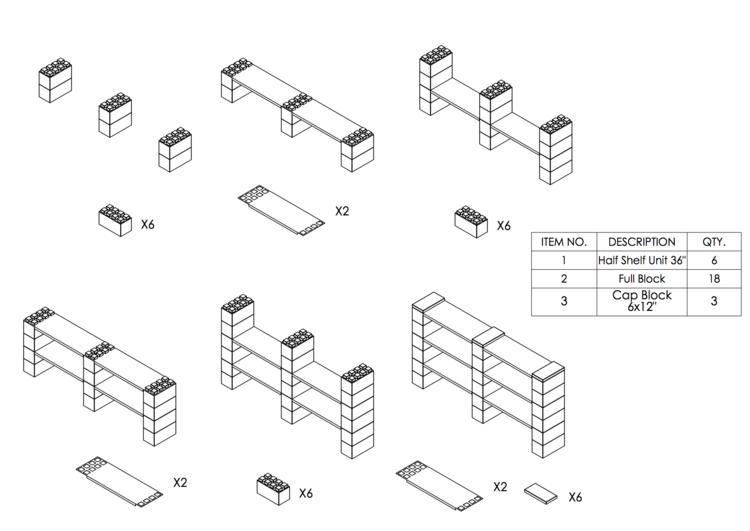 6 Böden Doppelregal - Schritt-für-Schritt Instruktionen