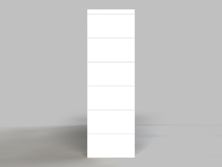 6 Böden Doppelregal - Seitenansicht