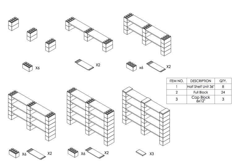 8 Böden Doppelregal - Schritt-für-Schritt Instruktionen