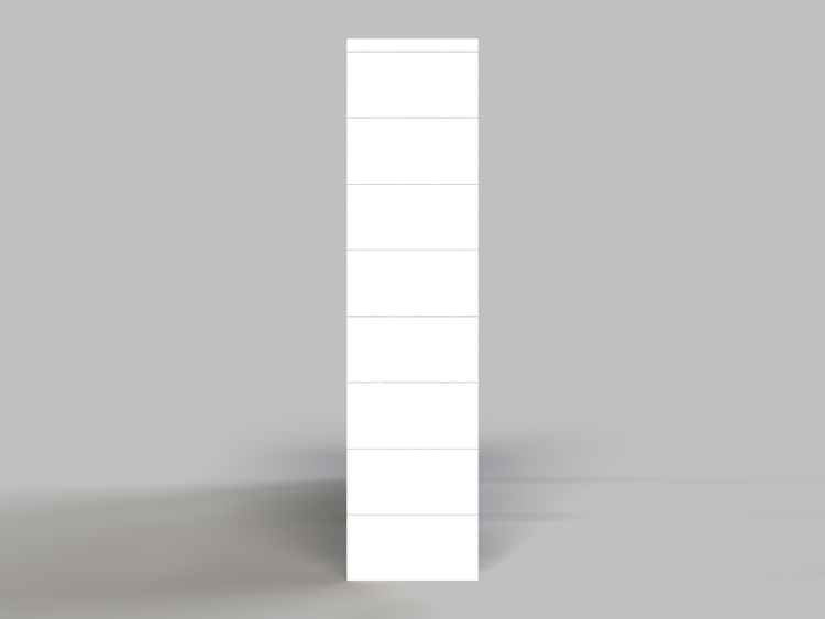 8 Böden Doppelregal - Seitenansicht