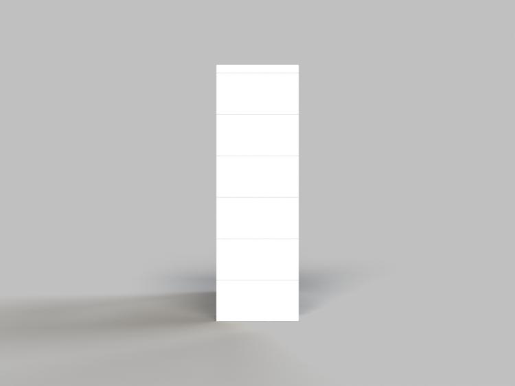 Regal mit 3 Ebenen - Seitenansicht