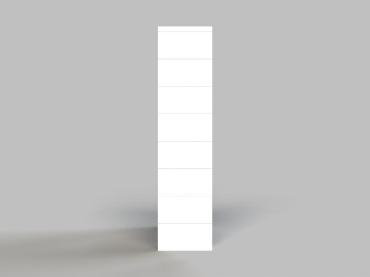 Regal mit 4 Ebenen - Seitenansicht