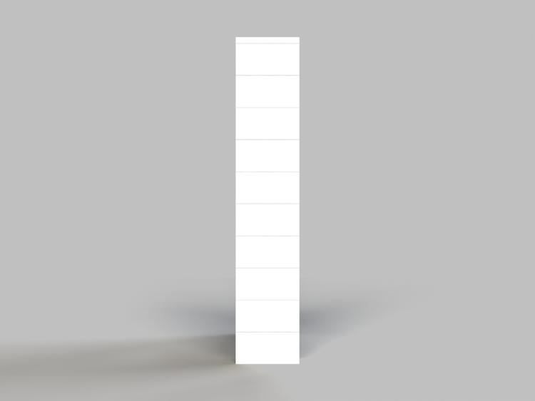 Regal mit 5 Ebenen - Seitenansicht