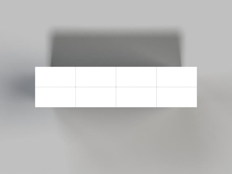 122 cm Side-Board / TV-Regal - Ansicht von oben