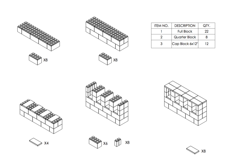 122 cm Side-Board / TV-Regal - Schritt-für-Schritt Instruktionen