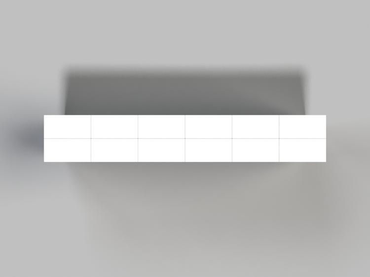 182 cm Side-Board / TV-Regal - Ansicht von oben