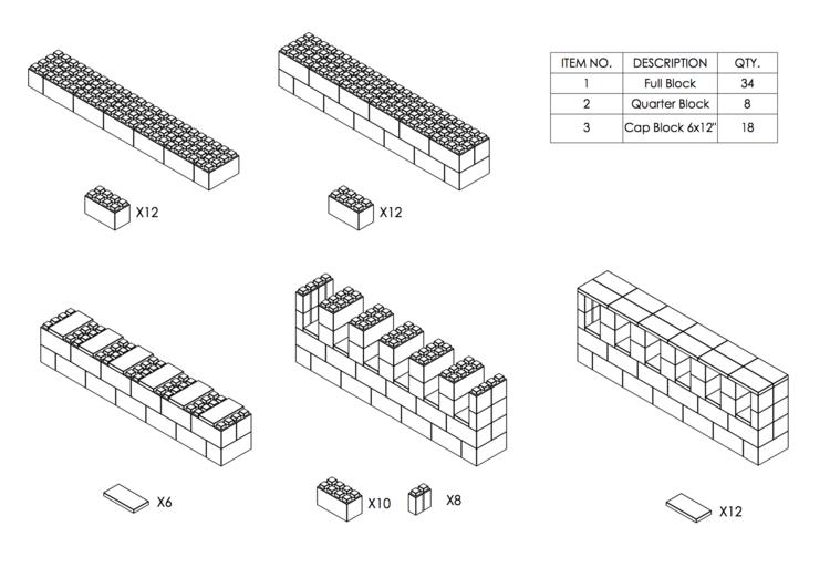 182 cm Side-Board / TV-Regal - Schritt-für-Schritt Instruktionen
