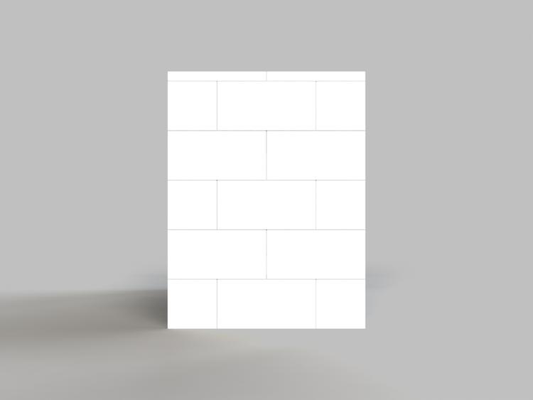 EverBlock 122 cm Schreibtisch - Seitenansicht