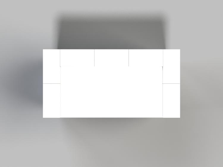 EverBlock 122 cm Schreibtisch - Ansicht von oben