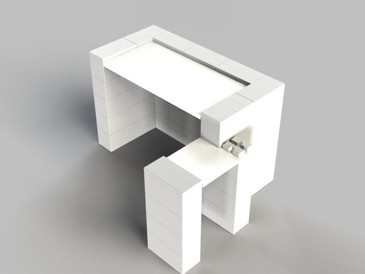 EverBlock 122 cm Schreibtisch mit Anbautisch