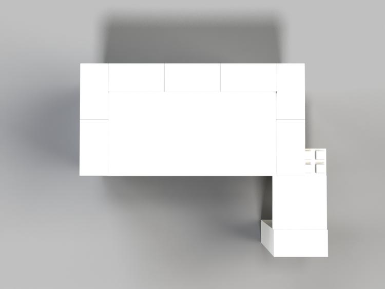 EverBlock 122 cm Schreibtisch mit Anbautisch - Ansicht von oben