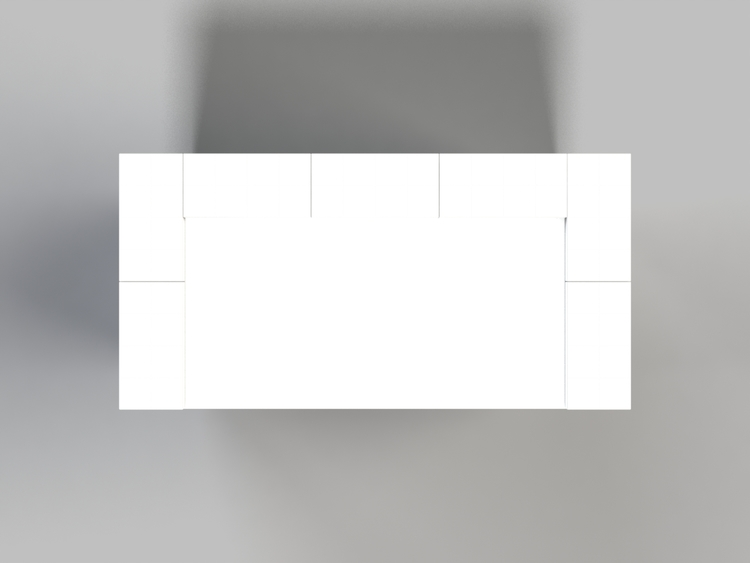 EverBlock Stehtisch - Ansicht von oben