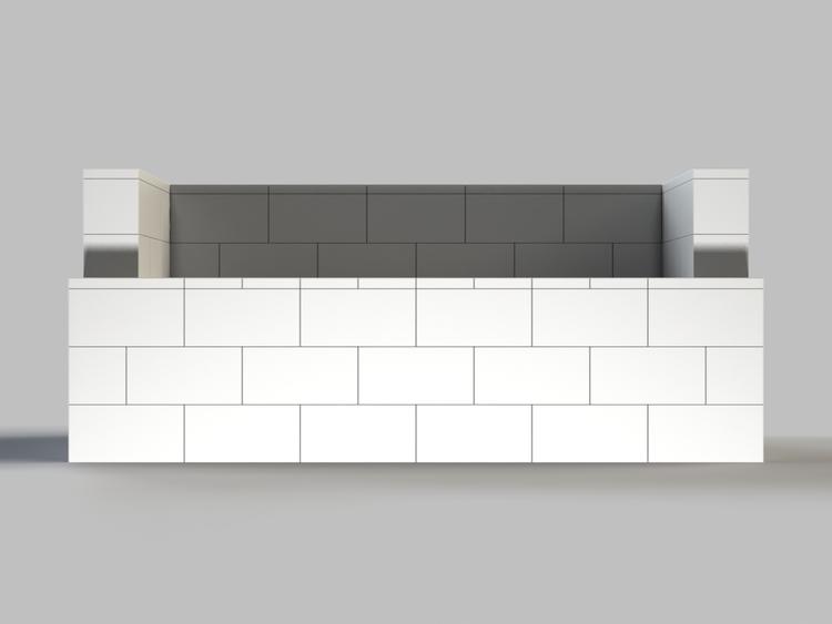 182 cm Sofa - Vorderansicht