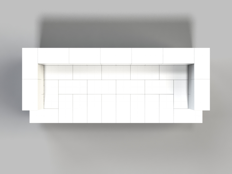 182 cm Sofa - Ansicht von oben