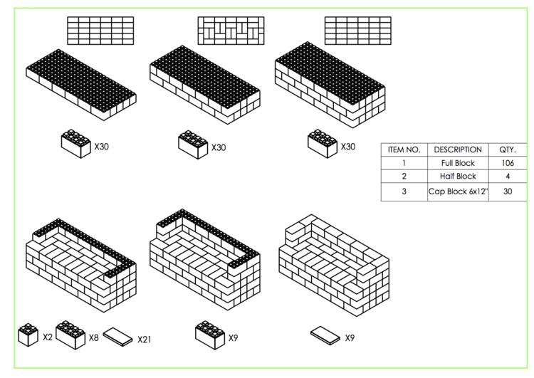 182 cm Sofa - Schritt-für-Schritt Instruktionen