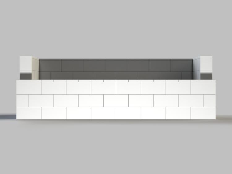 244 cm Sofa - Vorderansicht