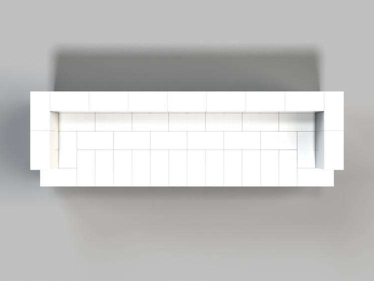 244 cm Sofa - Ansicht von oben