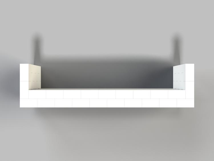 305 cm Bar - Ansicht von oben