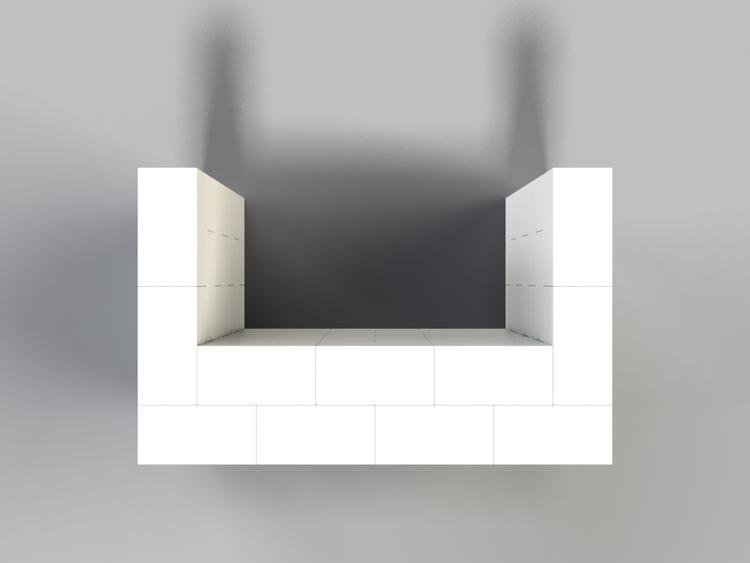 122 cm Bar - Ansicht von oben