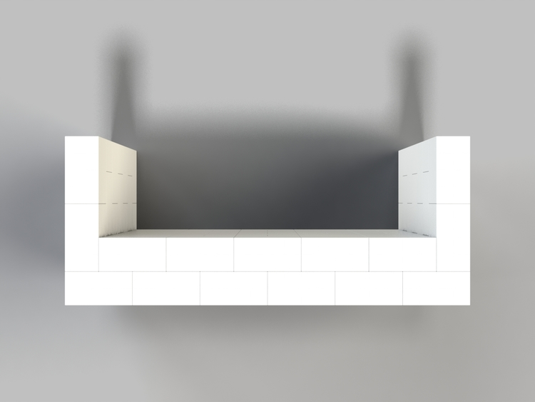 183 cm Bar - Ansicht von oben