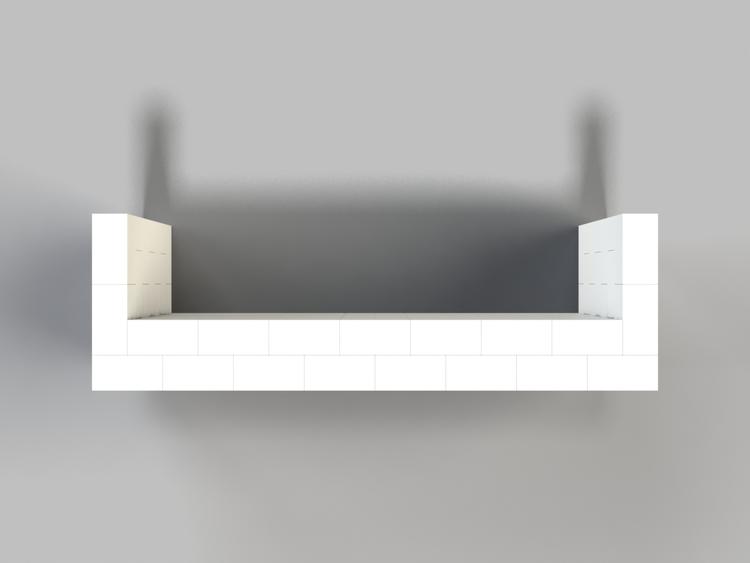 244 cm Bar - Ansicht von oben