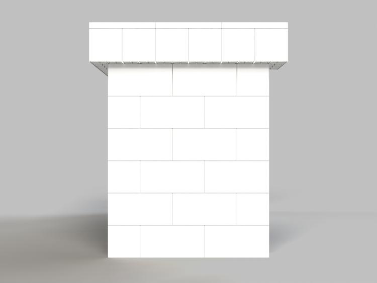 183 cm, obere Reihe rundum überstehend - Seitenansicht
