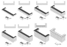 244 cm, obere Reihe rundum überstehend - Schritt-für-Schritt Instruktionen