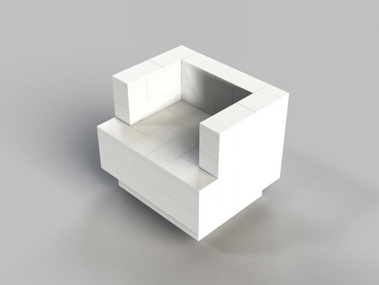 91 cm Sessel mit Überstand