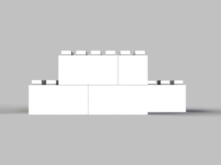 Moderne Tischbasis - Frontansicht