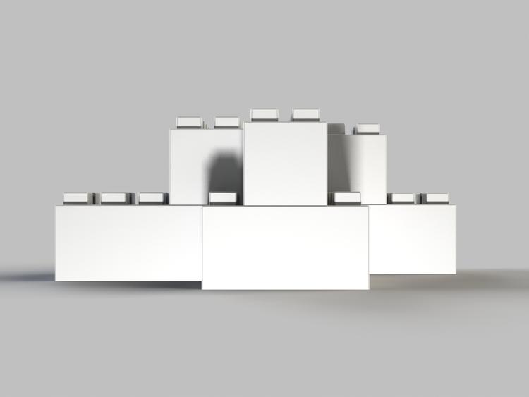 Moderne Tischbasis - Rückansicht
