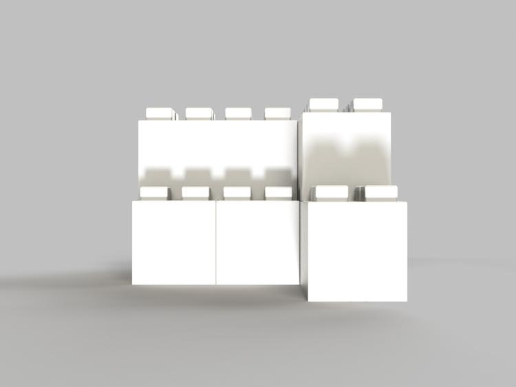 Moderne Tischbasis - Seitenansicht