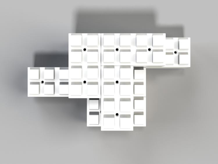 Moderne Tischbasis - Ansicht von oben