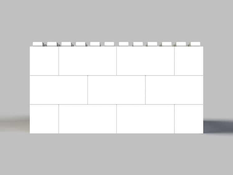 91 cm quadratischer Tisch - Frontansicht