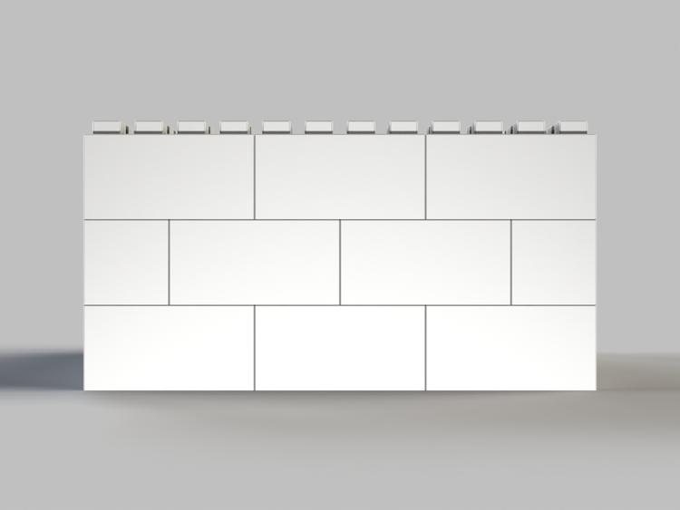 91 cm quadratischer Tisch - Rückansicht