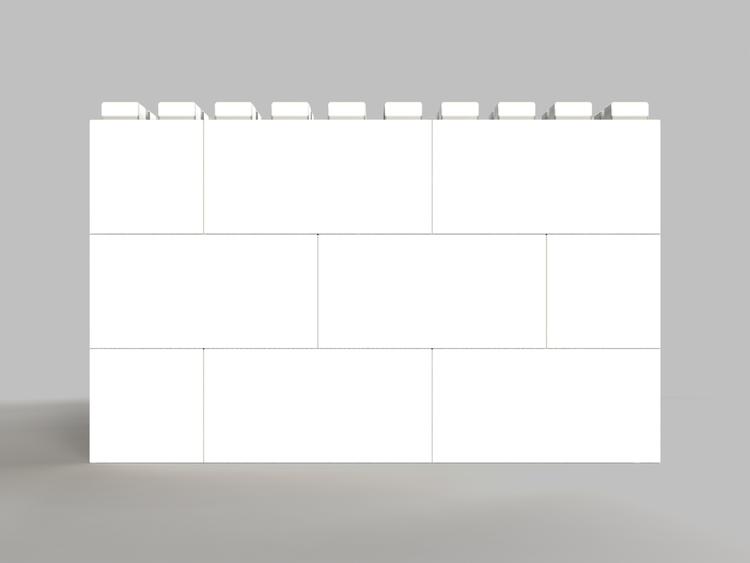 91 cm quadratischer Tisch - Seitenansicht