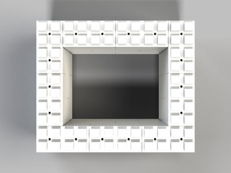 91 cm quadratischer Tisch - Ansicht von oben