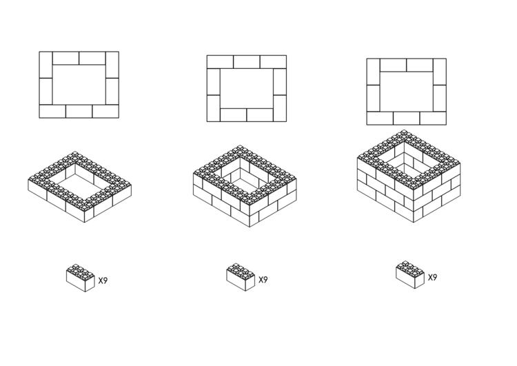 91 cm quadratischer Tisch - Schritt-für-Schritt Instruktionen