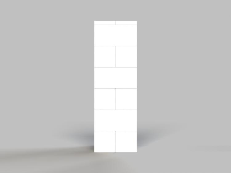 91cm Säule - Seitenansicht